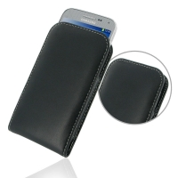 Samsung GALAXY BEAM 2 Leather Sleeve Pouch Case PDair Premium Hadmade Genuine Leather Protective Case Sleeve Wallet