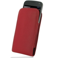 Leather Vertical Pouch Case for Samsung Galaxy Nexus GT-i9250 SCH-i515 (Red)
