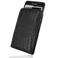 10% OFF + FREE SHIPPING, Buy PDair Quality Handmade Protective Samsung Galaxy Note Leather Sleeve Pouch Case (Black Croc Pattern) online. You also can go to the customizer to create your own stylish leather case if looking for additional colors, patterns