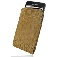 10% OFF + FREE SHIPPING, Buy PDair Quality Handmade Protective Samsung Galaxy Note Leather Sleeve Pouch Case (Brown Croc Pattern) online. You also can go to the customizer to create your own stylish leather case if looking for additional colors, patterns
