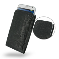Leather Vertical Pouch Case for Samsung Galaxy Note 2 | Samsung Galaxy Note2 | GT-N7100 (Black Crocodile Pattern)