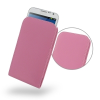 Leather Vertical Pouch Case for Samsung Galaxy Note 2 | Samsung Galaxy Note2 | GT-N7100 (Petal Pink)