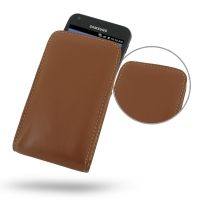 Leather Vertical Pouch Case for Samsung Galaxy S II Epic 4G Touch SPH-D710 (Brown)