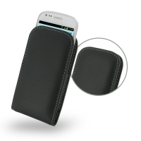 Samsung Galaxy S3 Mini Leather Sleeve Pouch Case PDair Premium Hadmade Genuine Leather Protective Case Sleeve Wallet