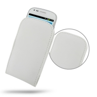Samsung Galaxy S3 Mini Leather Sleeve Pouch Case (White) PDair Premium Hadmade Genuine Leather Protective Case Sleeve Wallet