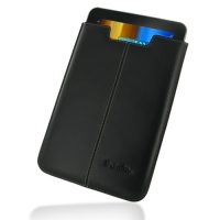 Samsung Galaxy Tab 8.9 Leather Sleeve Pouch Case (Black) PDair Premium Hadmade Genuine Leather Protective Case Sleeve Wallet