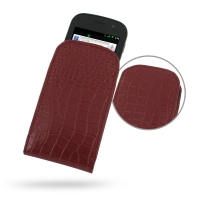 Leather Vertical Pouch Case for Samsung Google Nexus S GT-i9020T i9023 (Red Crocodile Pattern)