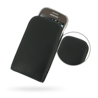 Leather Vertical Pouch Case for Samsung Star Deluxe Duos GT-S5292 (Rex90)