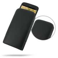 Leather Vertical Pouch Case for Sharp Aquos Phone SH930W