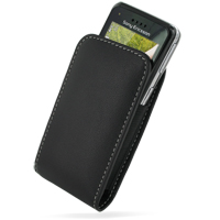 Sony Ericsson C903 Leather Sleeve Pouch Case (Black) PDair Premium Hadmade Genuine Leather Protective Case Sleeve Wallet