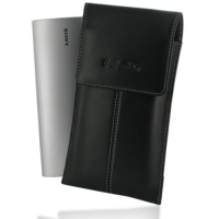 Sony Tablet P Leather Sleeve Pouch Case (Black) PDair Premium Hadmade Genuine Leather Protective Case Sleeve Wallet