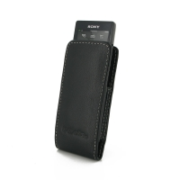 Sony Walkman NW-A10 Leather Sleeve Pouch Case PDair Premium Hadmade Genuine Leather Protective Case Sleeve Wallet