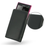 Sony Xperia Acro S Leather Sleeve Pouch Case PDair Premium Hadmade Genuine Leather Protective Case Sleeve Wallet
