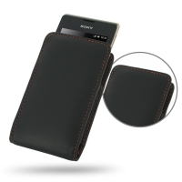 10% OFF + FREE SHIPPING, Buy Best PDair Quality Handmade Protective Sony Xperia E Dual Leather Sleeve Pouch Case (Orange Stitch). Pouch Sleeve Holster Wallet You also can go to the customizer to create your own stylish leather case if looking for addition