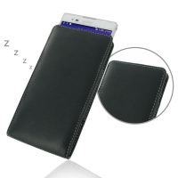 Sony Xperia T2 Ultra Leather Sleeve Pouch Case PDair Premium Hadmade Genuine Leather Protective Case Sleeve Wallet