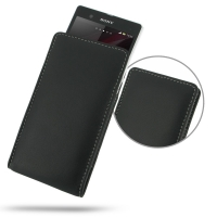 Leather Vertical Pouch Case for Sony Xperia Z L36H