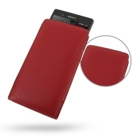 Leather Vertical Pouch Case for Sony Xperia Z L36H (Red)