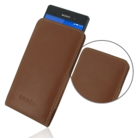 10% OFF + FREE SHIPPING, Buy Best PDair Top Quality Handmade Protective Sony Xperia Z3 Leather Sleeve Pouch Case (Brown) online. Pouch Sleeve Holster Wallet You also can go to the customizer to create your own stylish leather case if looking for additiona
