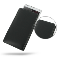 Leather Vertical Pouch Case for Sony Xperia ZL L35H