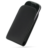 T-Mobile HTC myTouch 4G Leather Sleeve Pouch Case (Black) PDair Premium Hadmade Genuine Leather Protective Case Sleeve Wallet