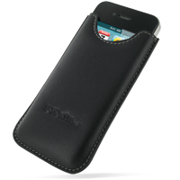 Leather Vertical Sleeve Pouch Case for Apple iPhone 4 | iPhone 4s