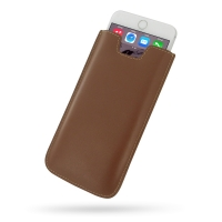 Leather Vertical Sleeve Pouch Case for Apple iPhone 6 Plus | iPhone 6s Plus (Brown)
