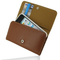 Leather Wallet Case for Apple iPhone 4 | iPhone 4s (Brown)