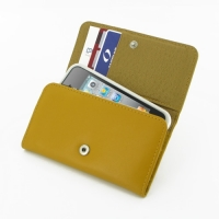 Leather Wallet Case for Apple iPhone 4 | iPhone 4s (Golden Palm)