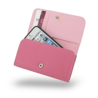 Leather Wallet Case for Apple iPhone 5 | iPhone 5s (Petal Pink Pebble Leather)