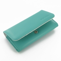 Leather Wallet Case for Samsung Galaxy S4 SIV LTE GT-i9500 GT-i9505 (Aqua)