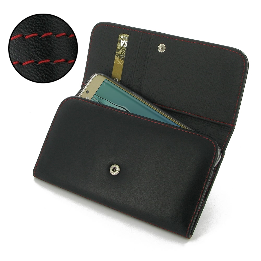 10% OFF + FREE SHIPPING, Buy Best PDair Quality Handmade Protective Samsung Galaxy S6 edge+ Plus Leather Wallet Case (Red Stitch). Pouch Sleeve Holster Wallet You also can go to the customizer to create your own stylish leather case if looking for additio