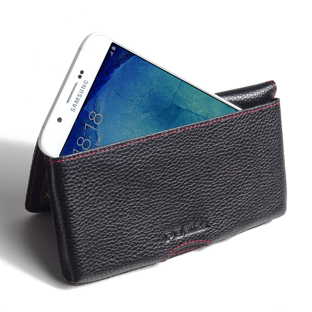 10% OFF + FREE SHIPPING, Buy PDair Quality Handmade Protective Samsung Galaxy A8 Leather Wallet Pouch Case (Red Stitching) online. Pouch Sleeve Holster Wallet You also can go to the customizer to create your own stylish leather case if looking for additio