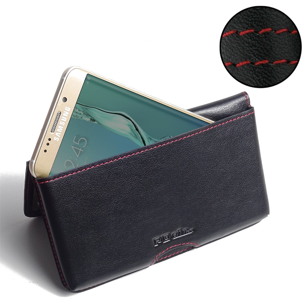 10% OFF + FREE SHIPPING, Buy PDair Quality Handmade Protective Samsung Galaxy S6 edge+ Plus Leather Wallet Pouch Case (Red Stitch) online. You also can go to the customizer to create your own stylish leather case if looking for additional colors, patterns