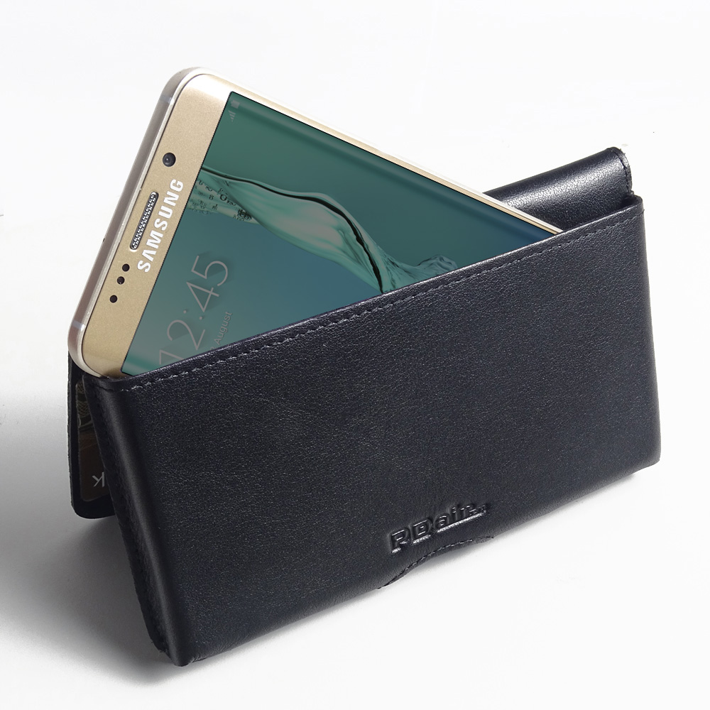 10% OFF + FREE SHIPPING, Buy PDair Quality Handmade Protective Samsung Galaxy S6 edge+ Plus Leather Wallet Pouch Case (Black Stitch). You also can go to the customizer to create your own stylish leather case if looking for additional colors, patterns and