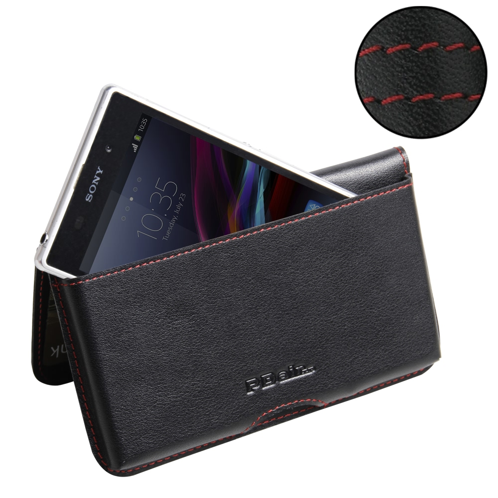 10% OFF + FREE SHIPPING, Buy Best PDair Top Quality Handmade Protective Sony Xperia Z1 Leather Wallet Pouch Case (Red Stitch) You also can go to the customizer to create your own stylish leather case if looking for additional colors, patterns and types.