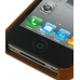 iPhone 4 4s Leather Cover (Vintage Brown) top quality leather case by PDair