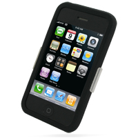 Luxury Silicone Case for Apple iPhone 3G | iPhone 3Gs (Black)