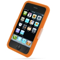 Luxury Silicone Case for Apple iPhone 3G | iPhone 3Gs (Orange)