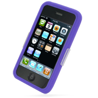 Luxury Silicone Case for Apple iPhone 3G | iPhone 3Gs (Purple)