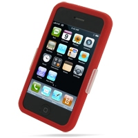Luxury Silicone Case for Apple iPhone 3G | iPhone 3Gs (Red)