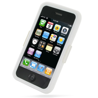 Luxury Silicone Case for Apple iPhone 3G | iPhone 3Gs (White)