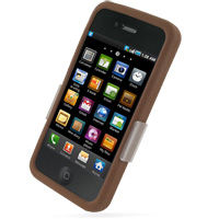 Luxury Silicone Case for Apple iPhone 4 | iPhone 4s (Chocolate Brown)