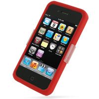 Luxury Silicone Case for Apple iPhone 4 | iPhone 4s (Red)