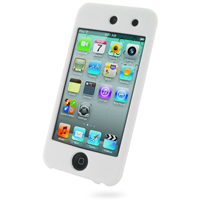 iPod Touch 4th Luxury Silicone Soft Case (White) PDair Premium Hadmade Genuine Leather Protective Case Sleeve Wallet