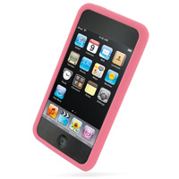 iPod Touch 2nd Luxury Silicone Soft Case (Pink) PDair Premium Hadmade Genuine Leather Protective Case Sleeve Wallet