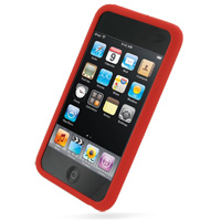 iPod Touch 2nd Luxury Silicone Soft Case (Red) PDair Premium Hadmade Genuine Leather Protective Case Sleeve Wallet