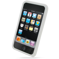 iPod Touch 2nd Luxury Silicone Soft Case (White) PDair Premium Hadmade Genuine Leather Protective Case Sleeve Wallet