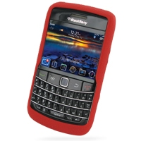 BlackBerry Bold 9780 Luxury Silicone Soft Case (Red) PDair Premium Hadmade Genuine Leather Protective Case Sleeve Wallet