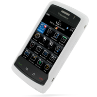 BlackBerry Storm 2 Luxury Silicone Soft Case (White) PDair Premium Hadmade Genuine Leather Protective Case Sleeve Wallet