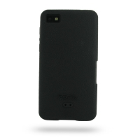BlackBerry Z10 Luxury Silicone Soft Case (Black) PDair Premium Hadmade Genuine Leather Protective Case Sleeve Wallet
